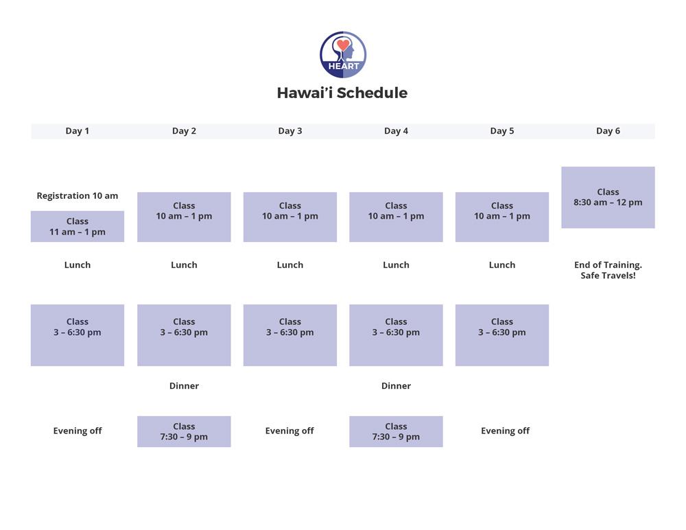HEARTraining Schedule Hawaii