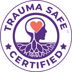 certified trauma safe organization badge